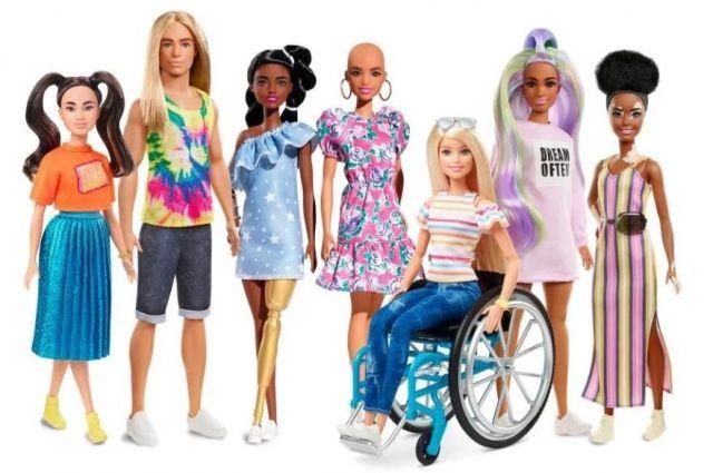Куклы разные нужны: появились куклы Барби с инвалидностью и лишним весом