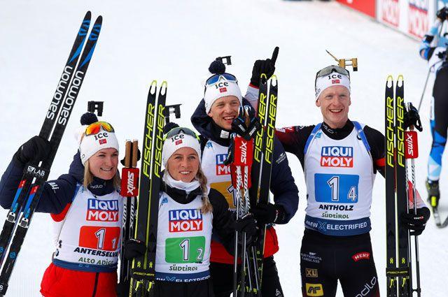 Сборная команда Норвегии.