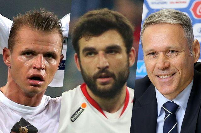 Дмитрий Тарасов, Георгий Джикия и Марко ван Бастен.