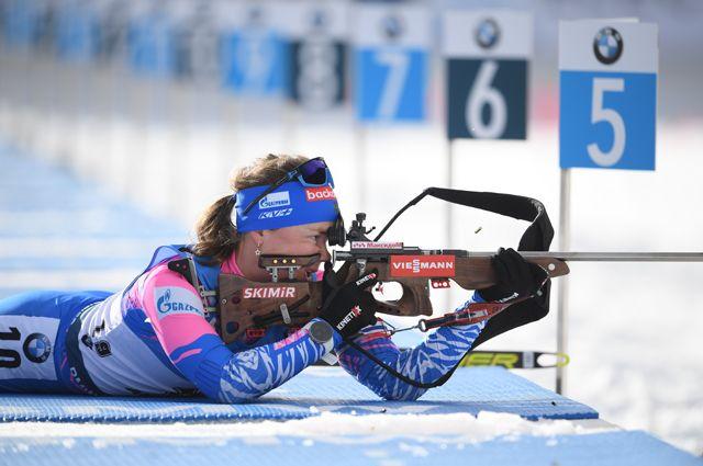 Екатерина Юрлова-Перхт на огневом рубеже.