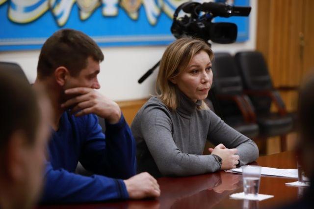 Мать Влада Бахова Анастасия на приеме у главы СК РФ Александра Бастрыкина.