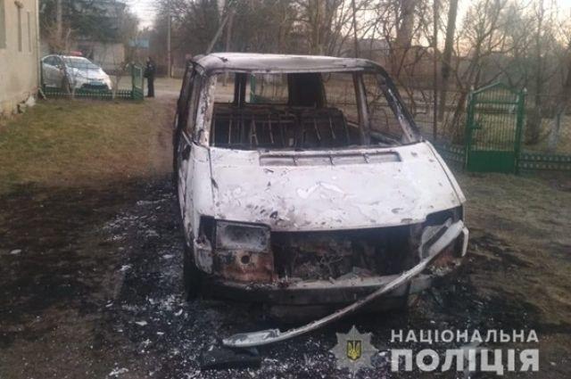 В Волынской области сожгли автомобиль священника