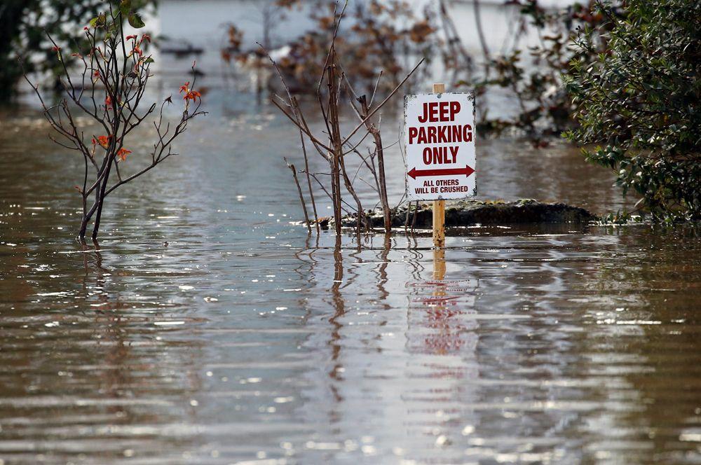 Затопленные улицы в Херефорде.