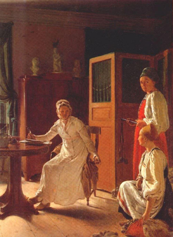«Утро помещицы», 1823.