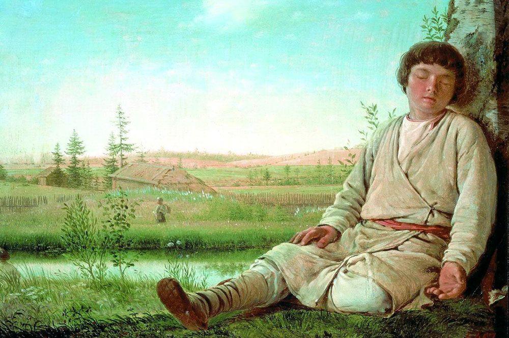 «Спящий пастушок», между 1823 и 1826.