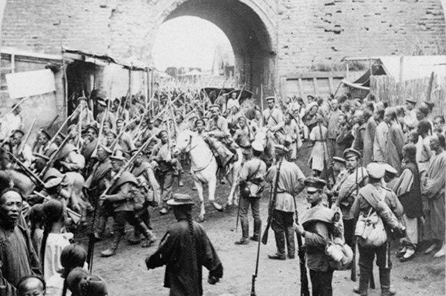 Русские войска вМукдене, 1905год.