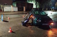 В Черняховске водитель автомобиля не уступил дорогу пьяному мотоциклисту