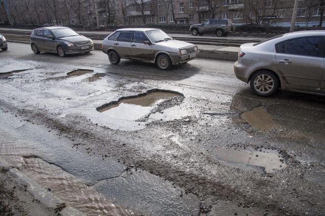 Оренбургские водители жалуются на состояние дорог