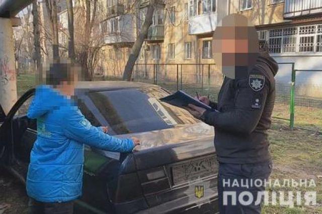 В Одессе подросток угнал машину и уснул в ней