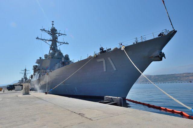 Американский эсминец зашел в Черное море