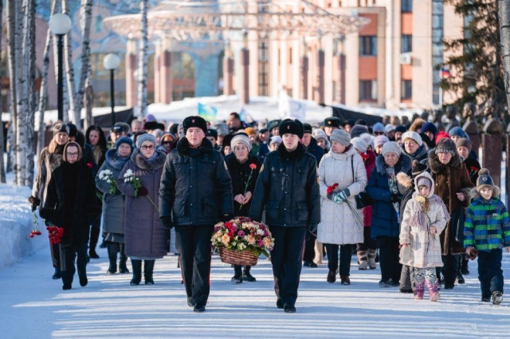 В этот день в парке Победы состоялось памятно-мемориальное мероприятие, посвященное Дню воинской славы России