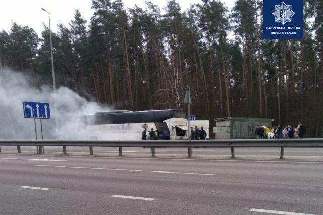 В Киевской области горел автобус
