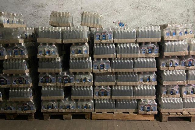 В Запорожской области подпольный склад продавал поддельный алкоголь