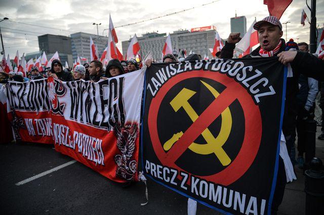 Марш по случаю Дня независимости Польши редко обходится без антикоммунистических, а значит, антирусских выступлений.