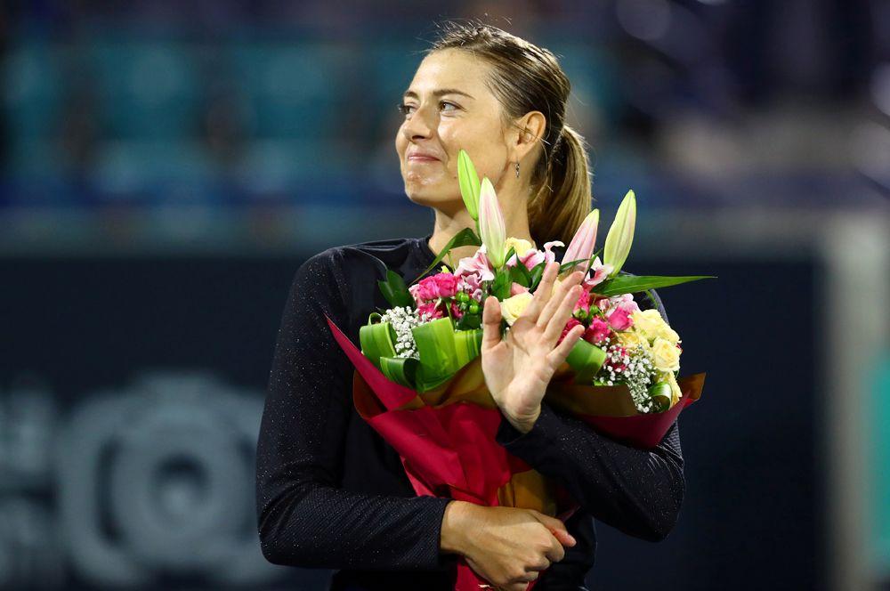 Мария Шарапова на Мировом теннисном чемпионате в Абу-Даби, 2019 год.