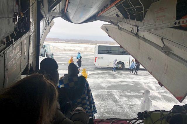 Самолет с эвакуированными россиянами прибыл в Тюмень