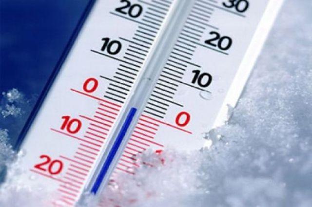 Столбик термометра опуститься до -3.