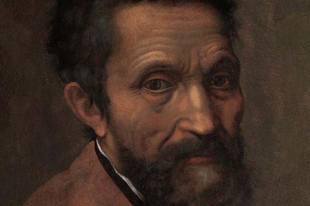 Микеланджело на портрете Даниэле да Вольтерра (ок. 1544).