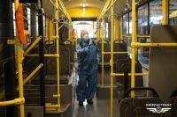В Киеве проводят дезинфекцию наземного и общественного транспорта