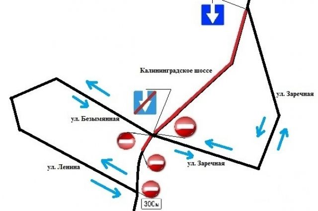 На участках дороги «Калининград – Полесск» изменится схема движения