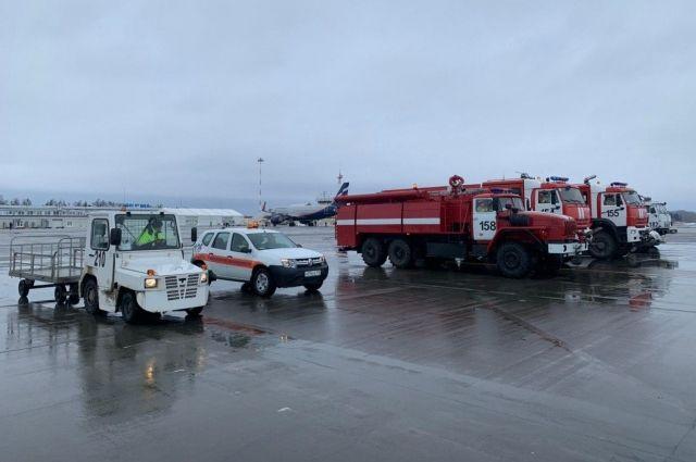 После успешной посадки пассажиры и члена экипажа были доставлены в аэровокзал аэропорта Перми.