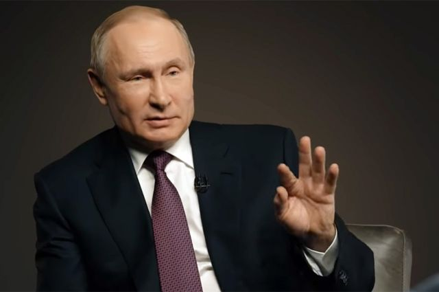 Кадр из интервью ТАСС с Владимиром Путиным.