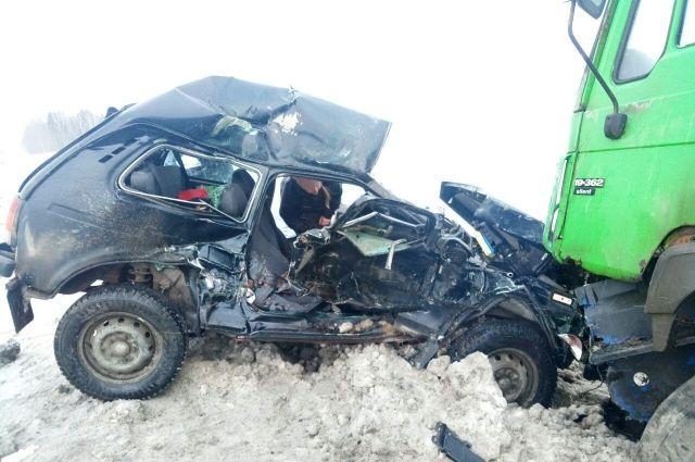 В результате ДТП погиб пассажир «Нивы», 95-летний мужчина. Водителя «Нивы» овтезли  в больницу с различными травмами. Сейчас устанавливаются обстоятельства произошедшего, проводится проверка.
