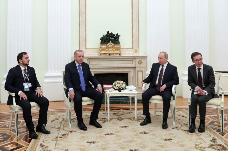 Встреча Владимира Путина и Реджепа Тайипа Эрдогана.