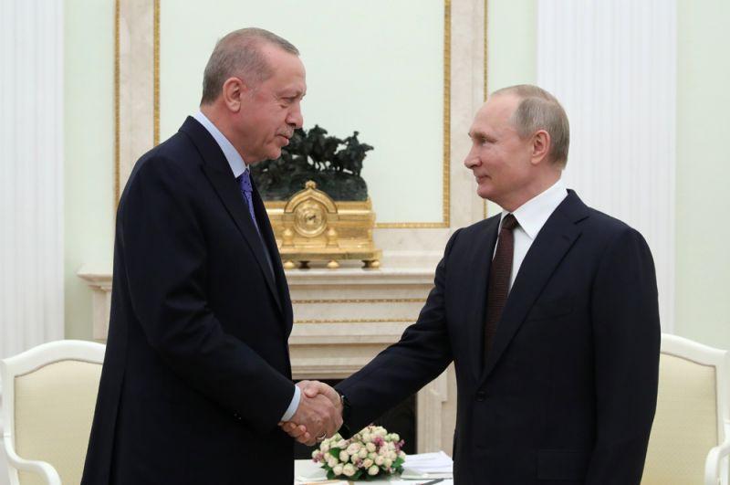 Владимир Путин и Реджеп Тайип Эрдоган.