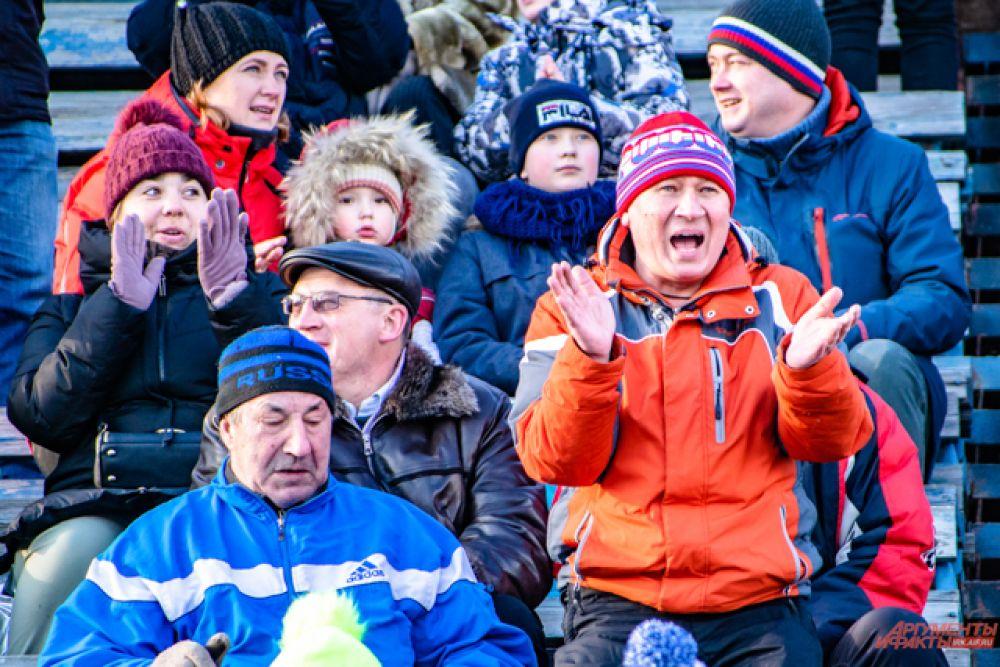 Иркутские и шелеховские болельщики активно поддерживают любимые команды.