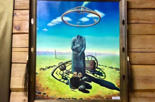 Работа «Нютаг» монгольского художника Раднаажава Лхамсурэна впервые выставляется в Иркутске.