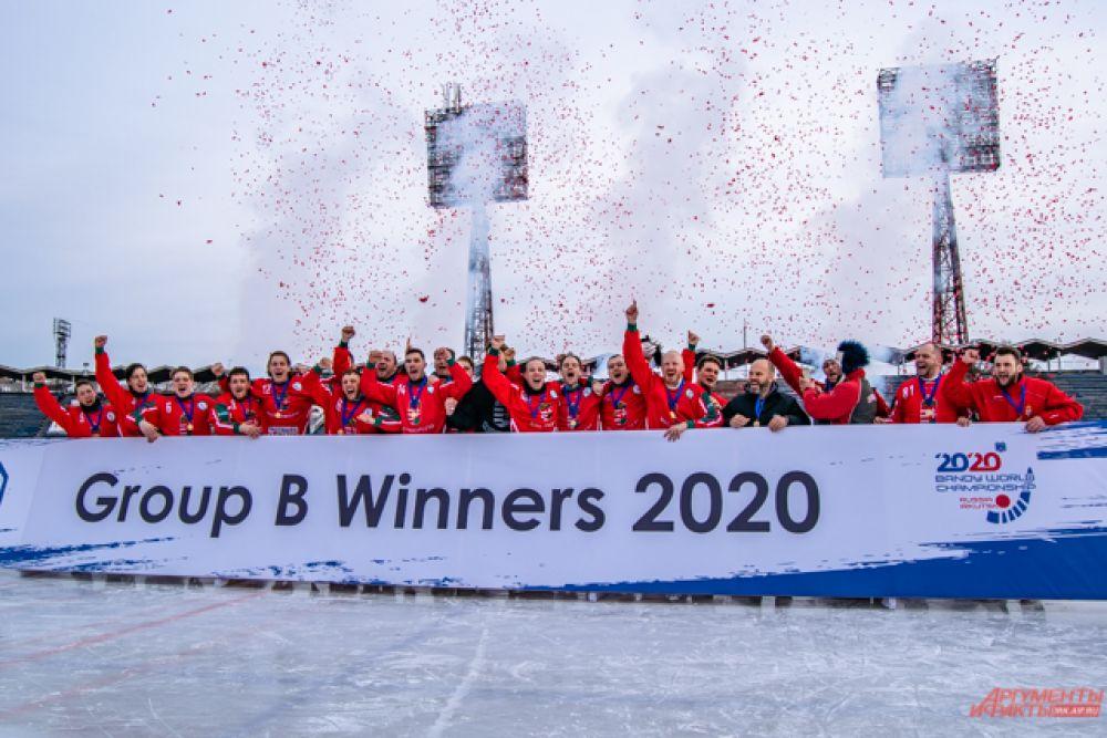 Благодаря победе в группе В в следующем году Венгрия сможет выступить на чемпионате мира уже как команда группы А.