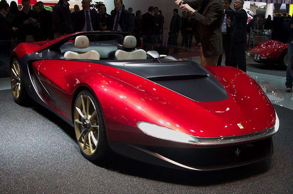 Ferrari Sergio Pininfarina — 3 млн долларов. Автомобиль, представленный на автосалоне в Женеве в 2013 году, назван в честь бывшего председателя компании и автомобильного дизайнера Серджо Пининфарины. Всего было произведено шесть таких автомобилей.