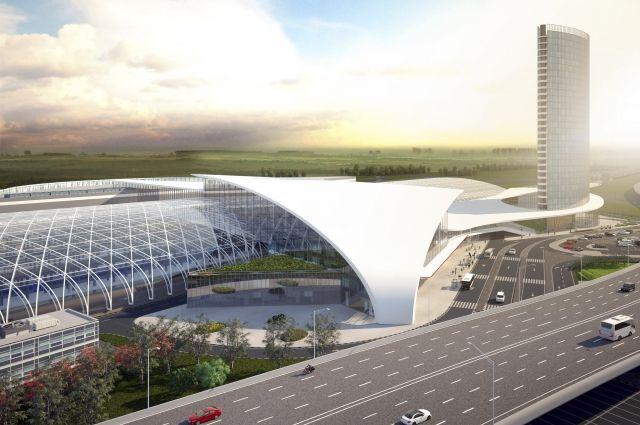 Так должен был выглядеть вокзал скоростной железнодорожной магистрали в Казани.