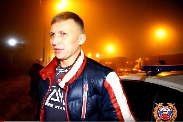 Водитель задержанного авто (скриншот с видео).