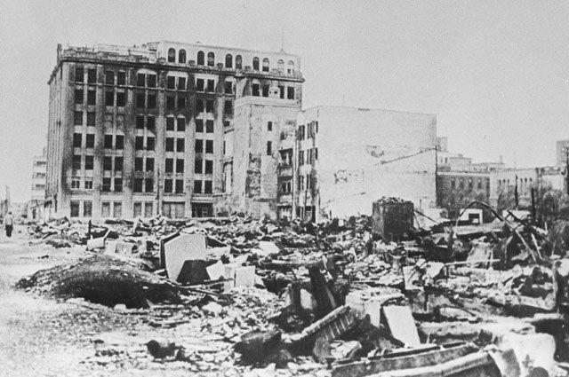 Токио после налета американской авиации.