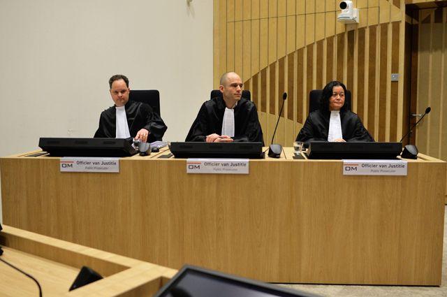 Государственные прокуроры на заседании суда по делу о крушении Boeing 777 рейса MH17.