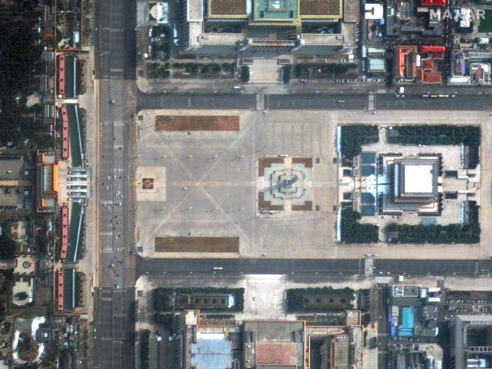 Площадь Тяньаньмэнь в Пекине, Китай. 11 февраля 2020 года.