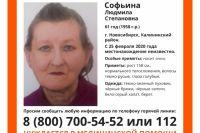 Софьина Людмила в последний раз выходила на связь 25 февраля.