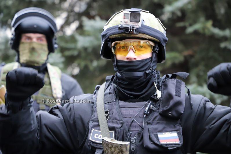 Офицер СОБР. Тренировка прошла отлично