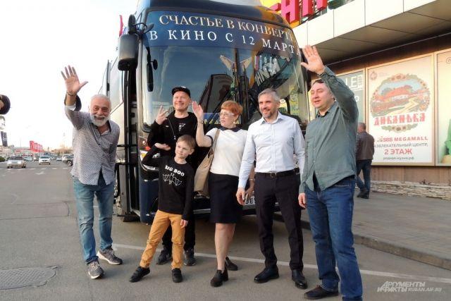 Создатели фильма «Счастье в конверте» в Краснодаре.