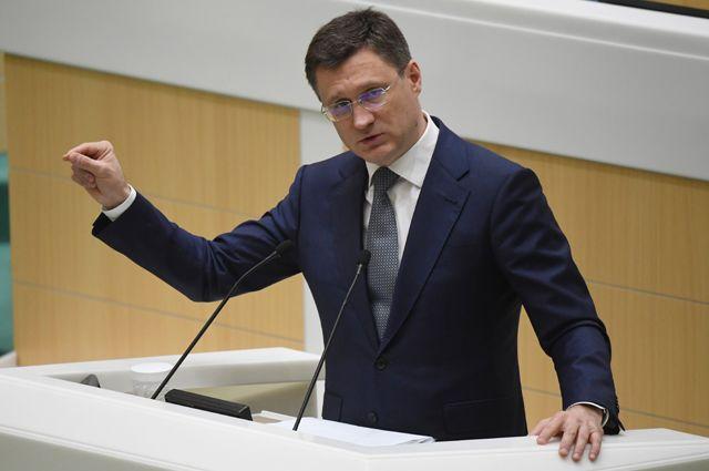 Министр энергетики Александр Новак на заседании Совета Федерации.