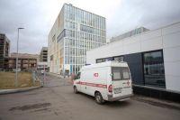Больничный корпус в Коммунарке для пациентов с подозрением на коронавирус.