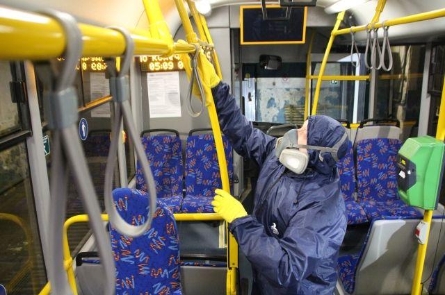 В Салехарде водители автобусов надели медицинские маски