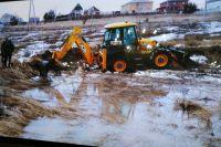 В посёлке Вознесение паводковые воды дошли до жилых домов.