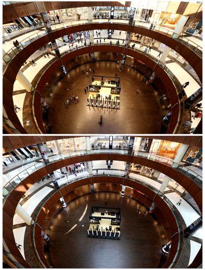 В торговом центре Dubai Mall в Дубае, ОАЭ.