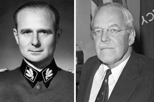 Карл Вольф и Аллен Даллес.