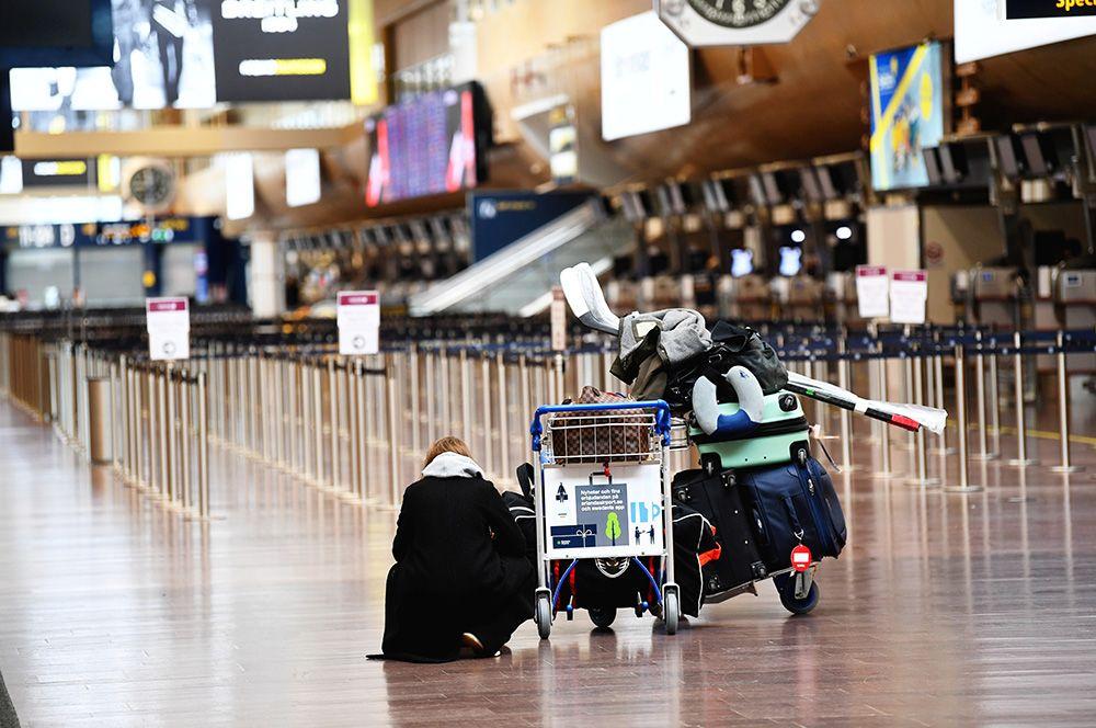 В стокгольмском аэропорту Арланда, Швеция.