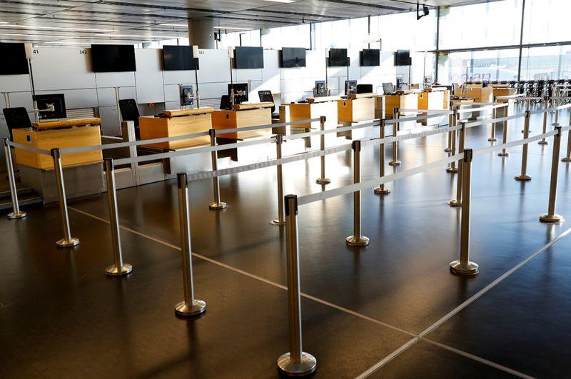 Ситуация в Венском международном аэропорту, Австрия.