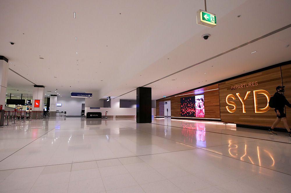 В аэропорту Сиднея, Австралия.